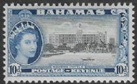 Bahamas SG210 1954 Definitive 10d unmounted mint